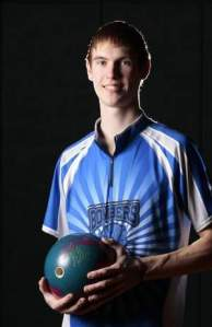 Jay Ciszewski, The Home News Tribune's Boys Bowler of the Year. Photo by: Augusto F. Menezes