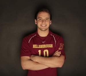 Hillsborough's Joe DeLuca, the 2013 Courier News Boys Volleyball Player of the Year. Photo by: Augusto F. Menezes