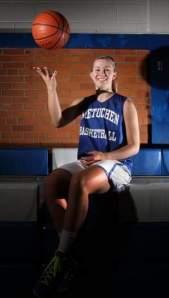 Cassie Smith, Metuchen High School girls basketball standout. Photo by: Mark R. Sullivan
