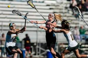 Bridgewater-Raritan's Ally Mastroianni scores against Montgomery on Thursday in Montgomery. Photo by: Jeff Granit