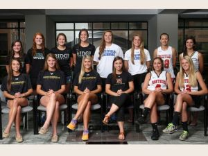 The 2014 Courier News Girls Lacrosse 1st Team All-Area performers. Photo by: Jason Towlen