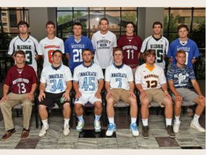 The 2014 Courier News Boys Lacrosse 1st Team All-Area performers. Photo by: Kathy Johnson