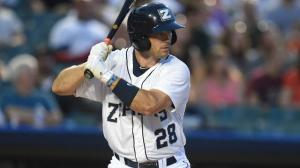 Cole Gillespie ranks among the Pacific Coast League's leading hitters in May. Photo by: Parker Waters / New Orleans Zephyrs