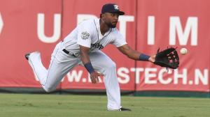 Isaac Galloway has made highlight-reel catches routine during his first Triple-A campaign. Photo by: Parker Waters / New Orleans Zephyrs
