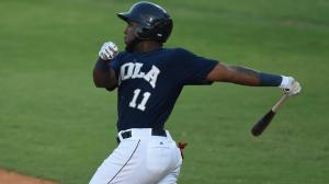Marcell Ozuna has batted .353 with 12 extra-base hits in his first 18 games with the Zephyrs. Photo by: Parker Waters / New Orleans Zephyrs