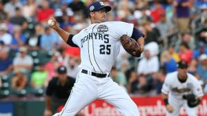 Andre Rienzo worked a scoreless second inning during the PCL's 4-3 loss to the IL. Photo by: Chris Donahue
